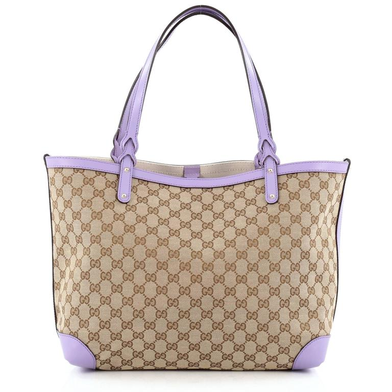 9427dd887ccfe0 Gucci Craft Tote GG Canvas Medium In Good Condition For Sale In New York, NY