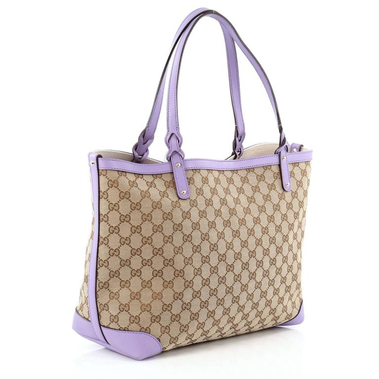 a87163c27 Brown Gucci Craft Tote GG Canvas Medium For Sale