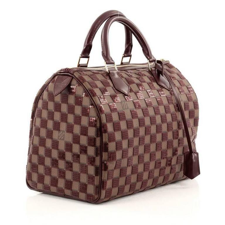 Black Louis Vuitton Speedy Handbag Damier Paillettes 30 For Sale