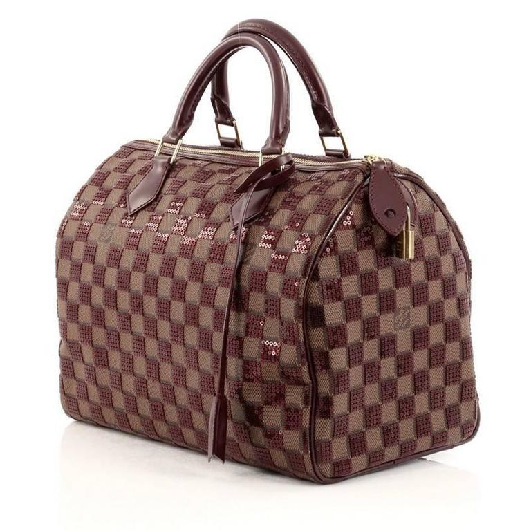 Women's Louis Vuitton Speedy Handbag Damier Paillettes 30 For Sale