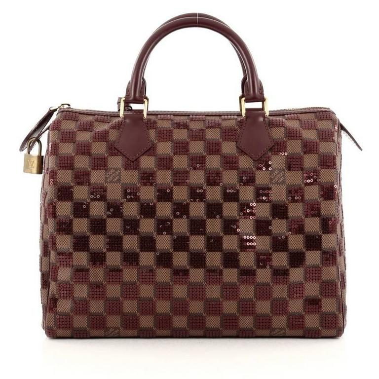 Louis Vuitton Speedy Handbag Damier Paillettes 30 In Good Condition For Sale In New York, NY
