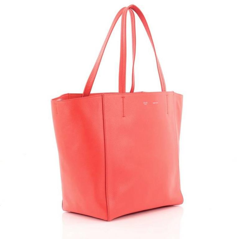 Pink Celine Phantom Cabas Tote Leather Small For Sale