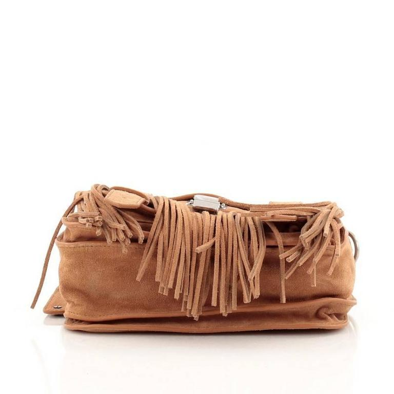 Proenza Schouler PS1 Pouch Suede Fringe Small 6