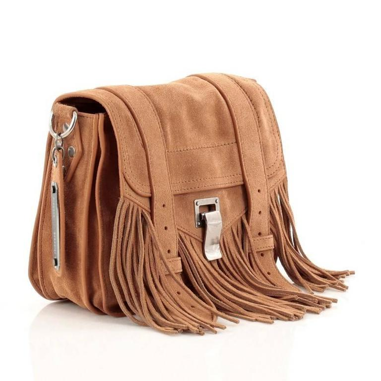 Proenza Schouler PS1 Pouch Suede Fringe Small 4