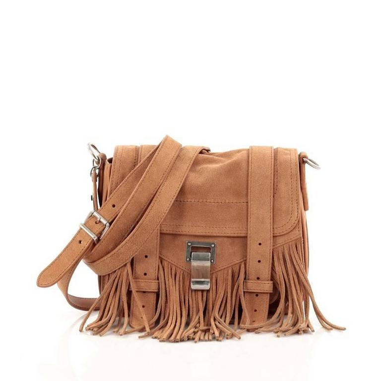Proenza Schouler PS1 Pouch Suede Fringe Small 3