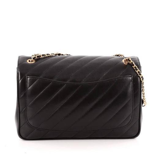 da94c481ac7040 Chanel CC Signature Flap Bag Diagonal Quilted Leather Medium at 1stdibs