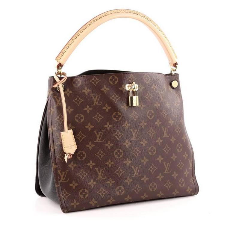 d3193915dd2f7 Brown Louis Vuitton Gaia Handbag Monogram Canvas For Sale