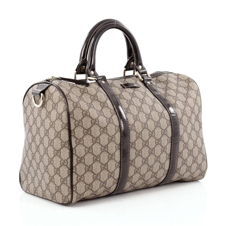 ab679d0aa Gray Gucci Joy Boston Bag GG Coated Canvas Medium For Sale