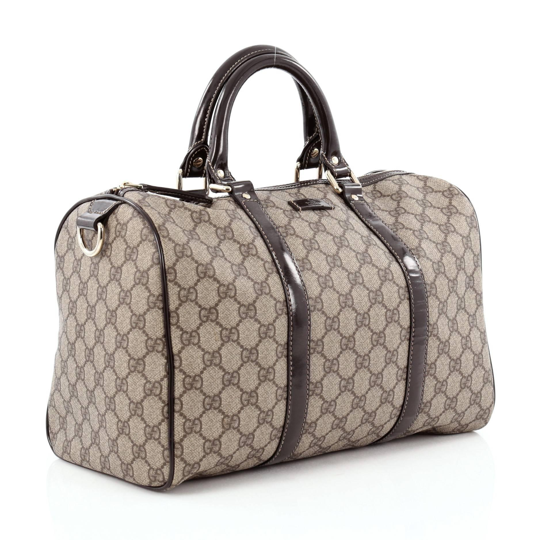 2697bef4c177bb Gucci Joy Boston Bag GG Coated Canvas Medium at 1stdibs