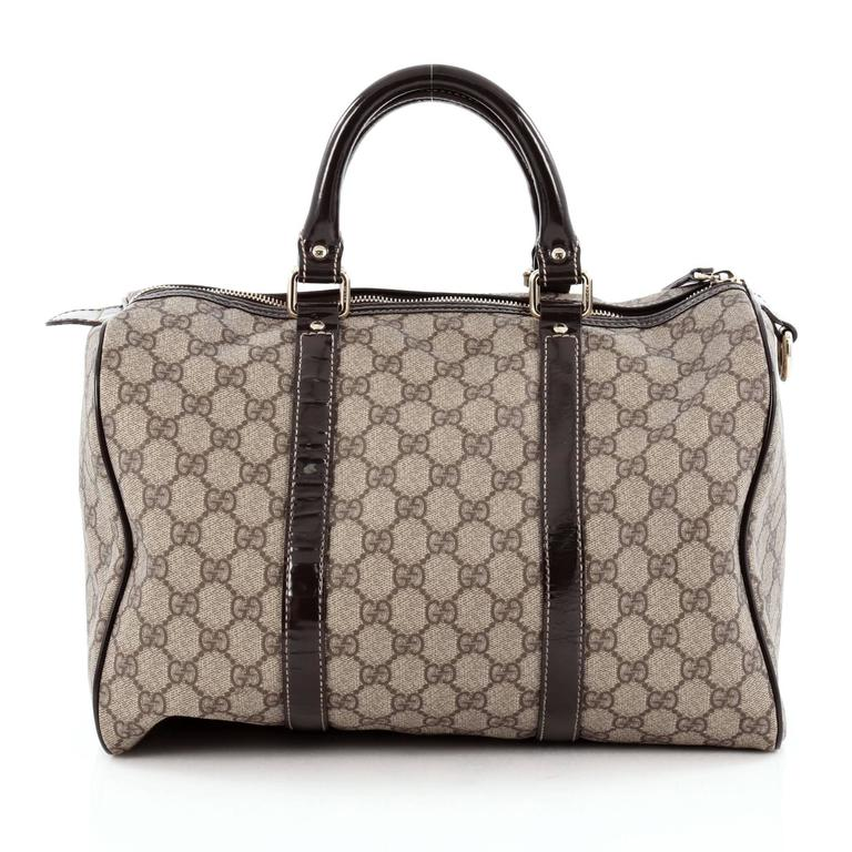56e998b77429cd Gucci Joy Boston Bag GG Coated Canvas Medium In Good Condition For Sale In  New York