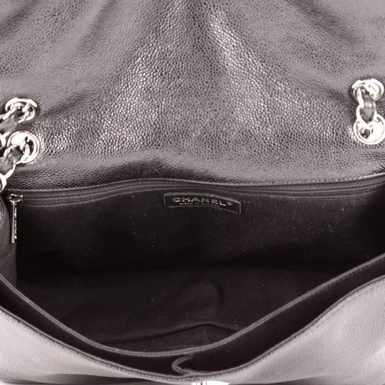 6616766c9ce6 Chanel Natural Beauty Split Pocket Flap Bag Quilted Caviar Medium For Sale 1