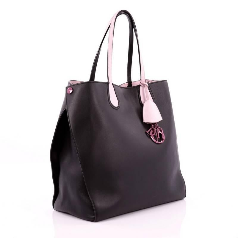 9baa931ce Christian Dior Addict Shopping Tote Leather Large at 1stdibs
