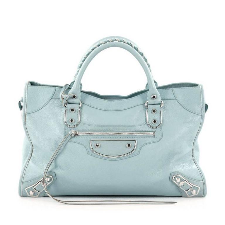 ca74b5d58087 Balenciaga City Classic Metallic Edge Handbag Leather Medium at 1stdibs