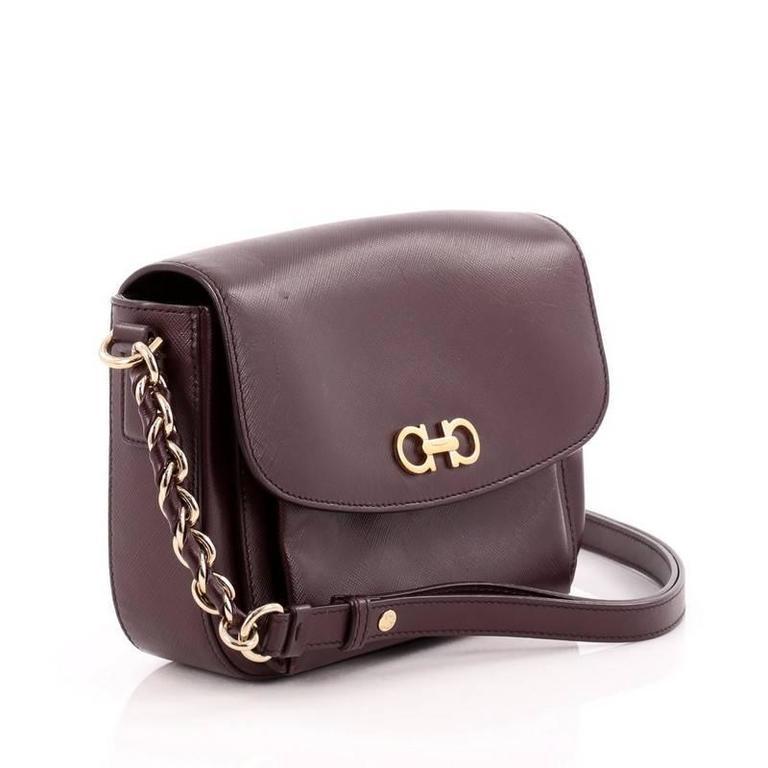 Black Salvatore Ferragamo Sandrine Shoulder Bag Leather