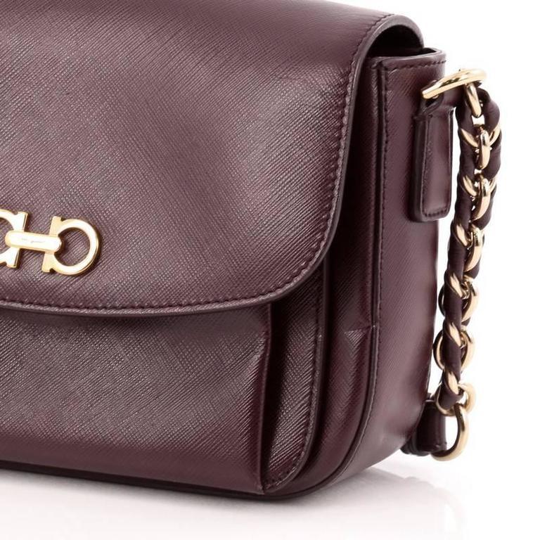 Salvatore Ferragamo Sandrine Shoulder Bag Leather 4