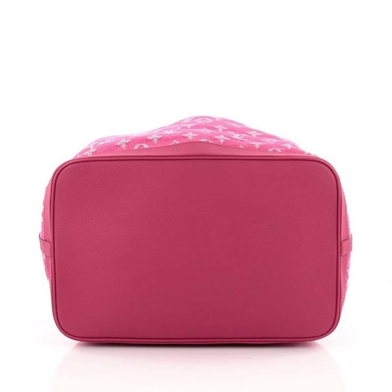 Louis Vuitton Noefull Handbag Denim MM at 1stdibs