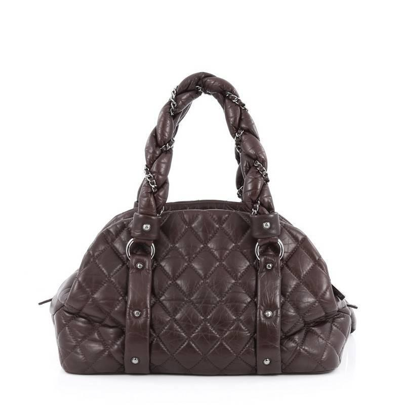 dfbd6af3e6004d Chanel Lady Braid CC Bowler Bag Quilted Lambskin at 1stdibs