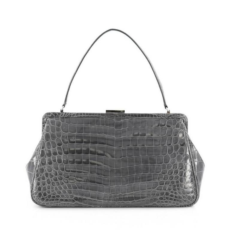 Tiffany And Co Laurelton Handbag Crocodile At 1stdibs