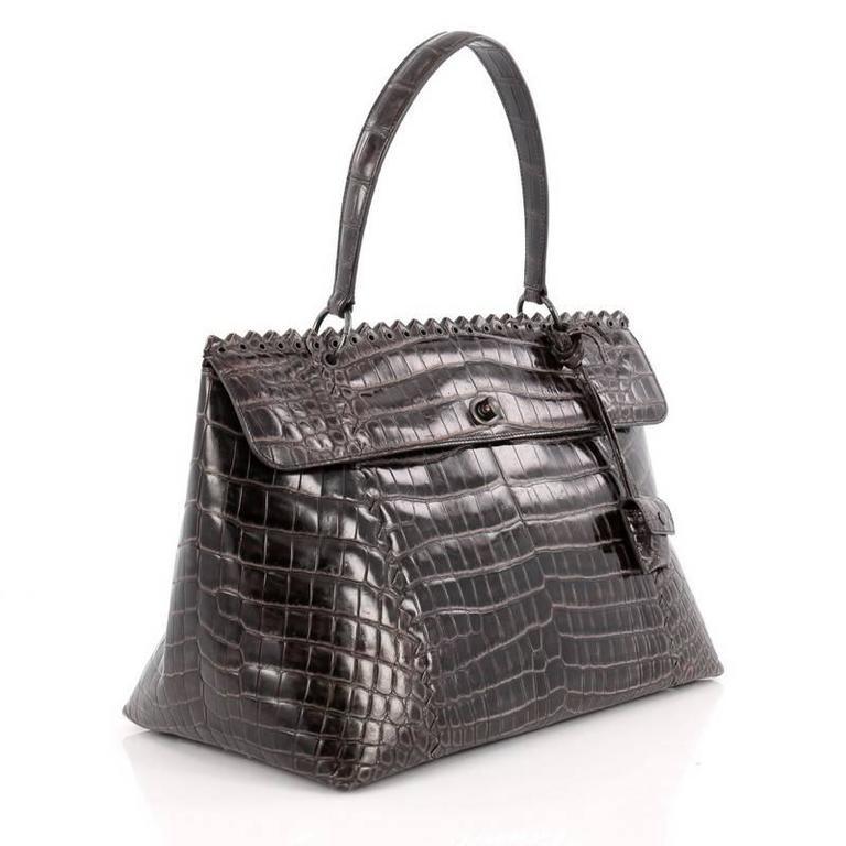 674ca7f222de Black Bottega Veneta Tie-Dye Tiina Bag Crocodile Large For Sale
