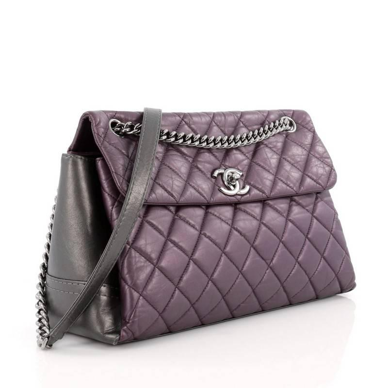b8442369db09 Chanel Lady Pearly Flap Bag Aged Quilted Calfskin Medium at 1stdibs
