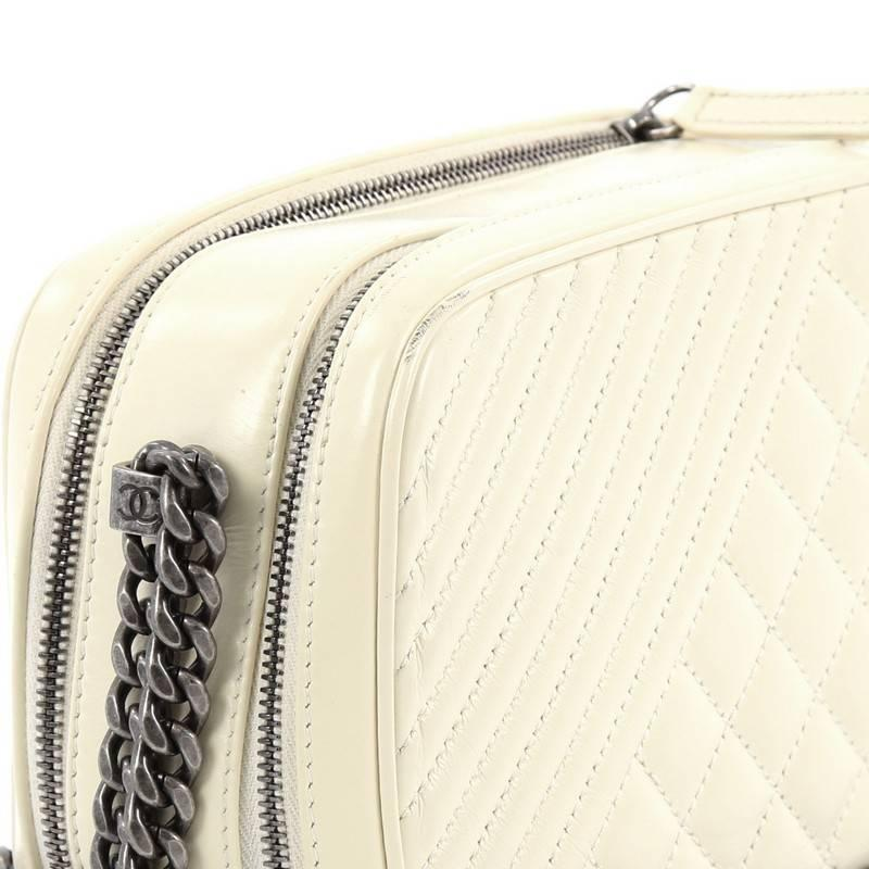 0e85c6579982 Chanel Coco Boy Camera Bag Quilted Leather Small at 1stdibs