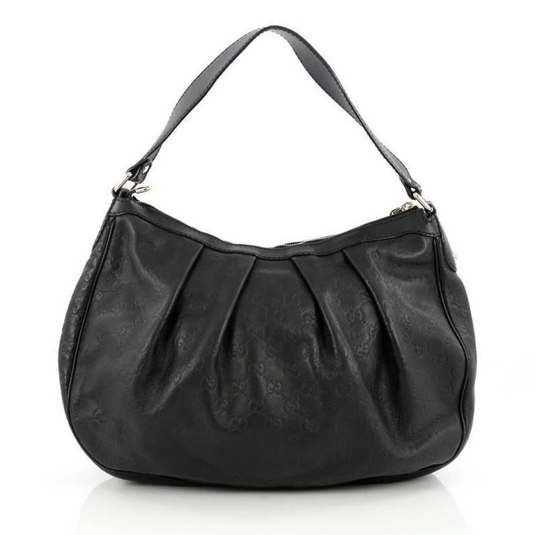 e676fbce5cf3 Gucci Sukey Hobo Guccissima Leather Medium In Good Condition For Sale In  New York, NY