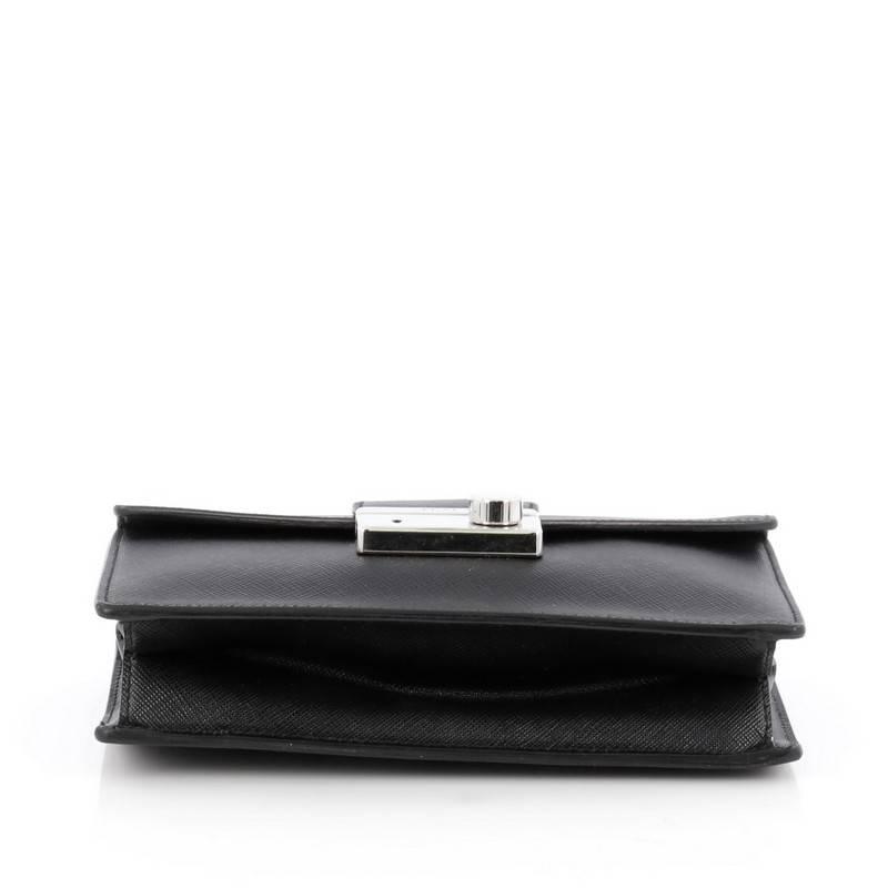 a0ae848a96c1 Prada Convertible Sound Bag Vernice Saffiano Leather Mini at 1stdibs