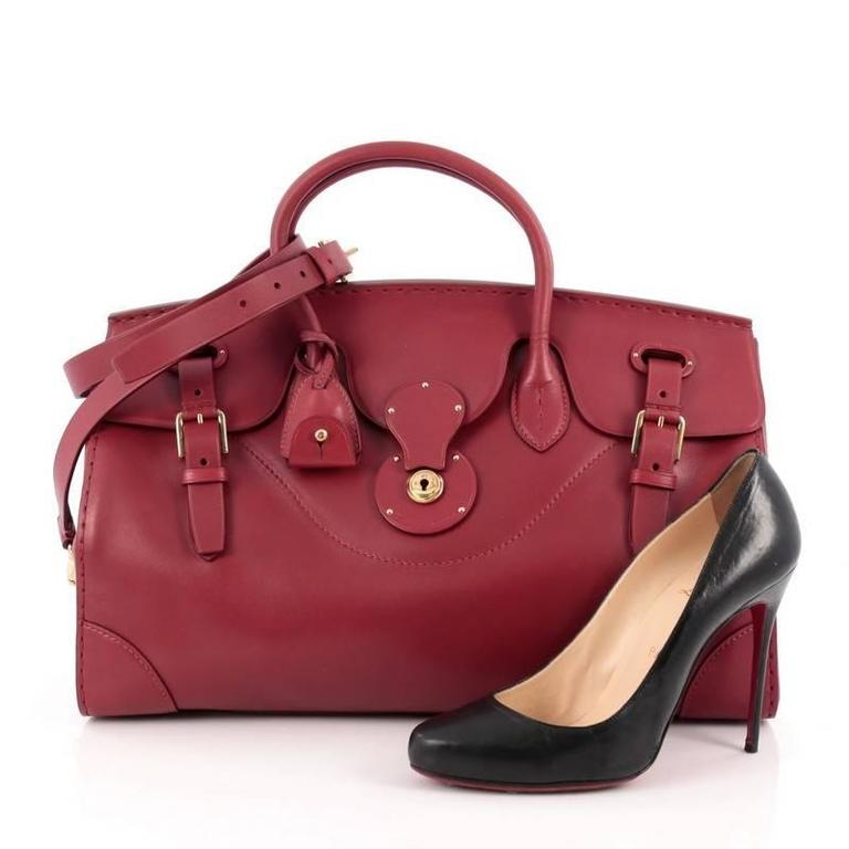 This Authentic Ralph Lauren Collection Soft Ricky Handbag Leather 40 Is One Of The Brand S Most