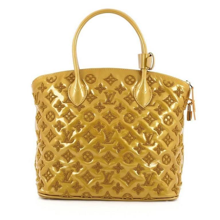 Louis Vuitton Fascination Lockit Handbag Patent Lambskin In Good Condition  For Sale In New York 2803c46c8ab0b