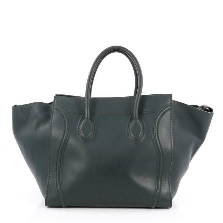 Celine Phantom Handbag Smooth Leather Medium In Good Condition For Sale In New York, NY