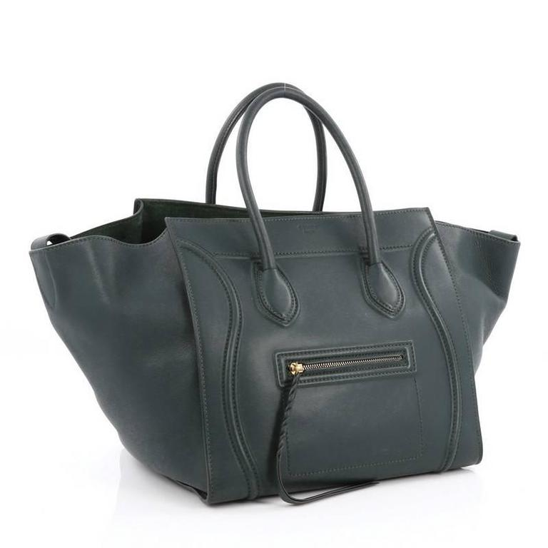 Black Celine Phantom Handbag Smooth Leather Medium For Sale