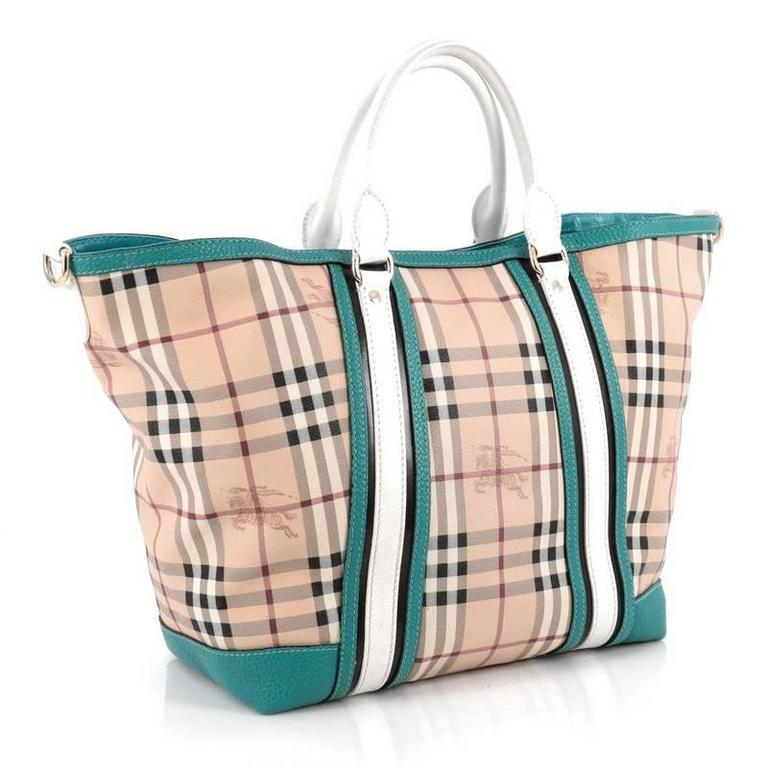 Burberry Jameson Tote Haymarket Coated Canvas and Leather Medium at ... e15948a32863d