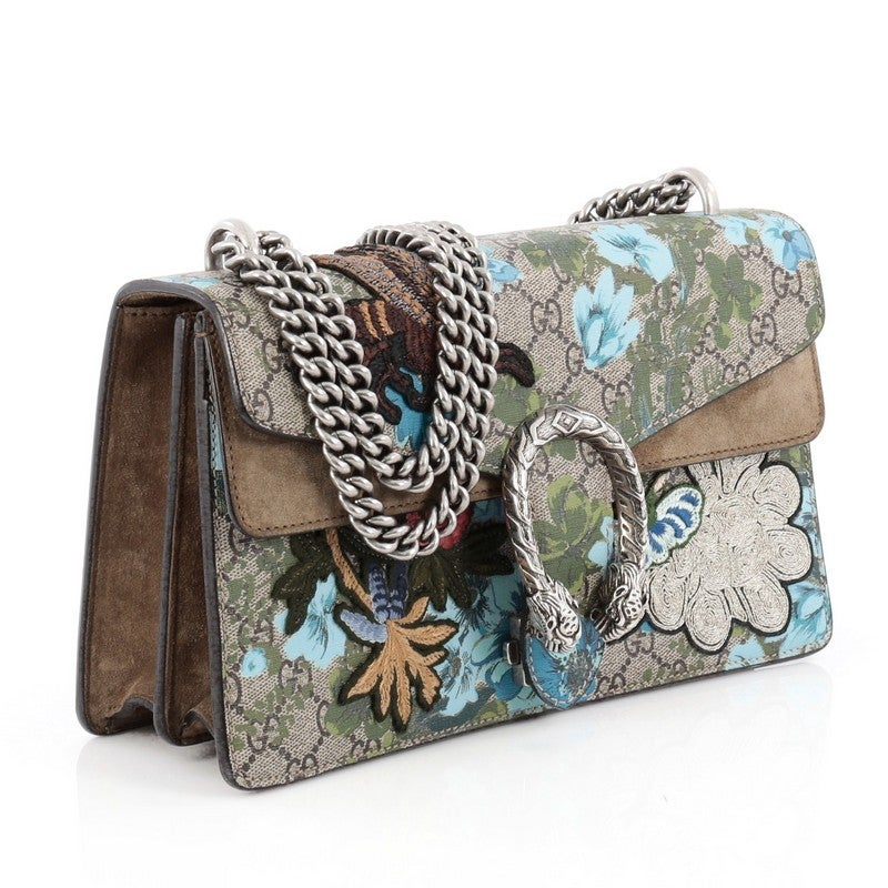 c4f5f86a9e3 Gucci Dionysus Handbag Blooms Print Embroidered GG Coated Canvas Small at  1stdibs