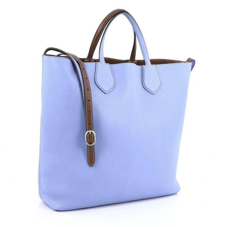 Blue Gucci Ramble Reversible Tote Leather Large For