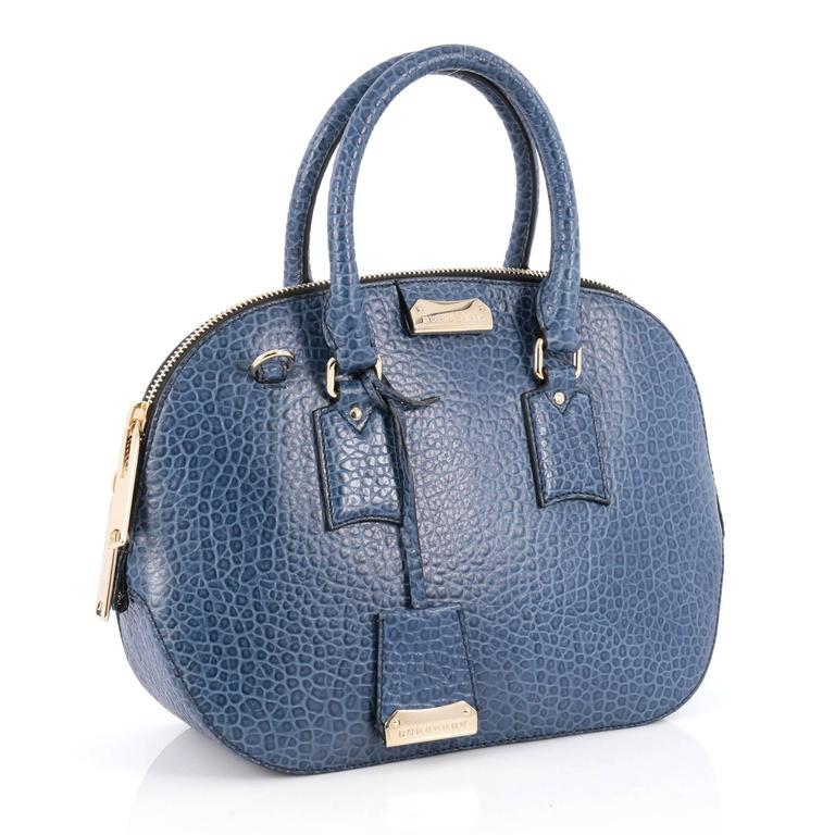 04fda5bc3d97 Gray Burberry Orchard Bag Heritage Grained Leather Small For Sale