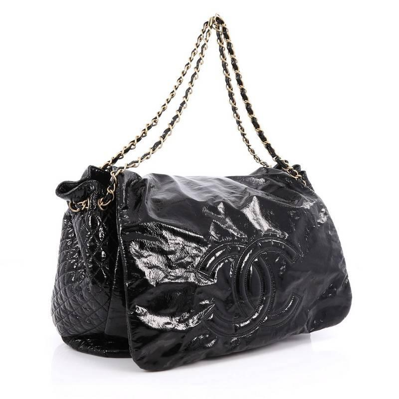 addc77d9b98d Chanel Rock and Chain Flap Bag Patent XL at 1stdibs