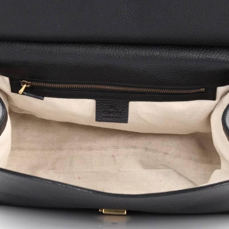 Gucci Marmont Top Handle Bag Leather Small At 1stdibs