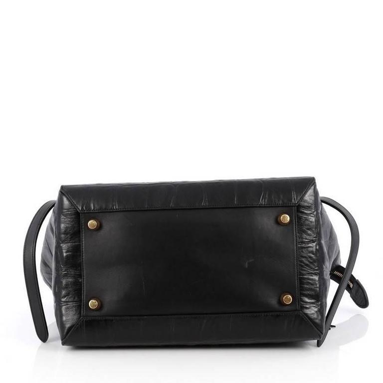 0552656c163 Women s or Men s Celine Belt Bag Crocodile Embossed Leather Medium For Sale