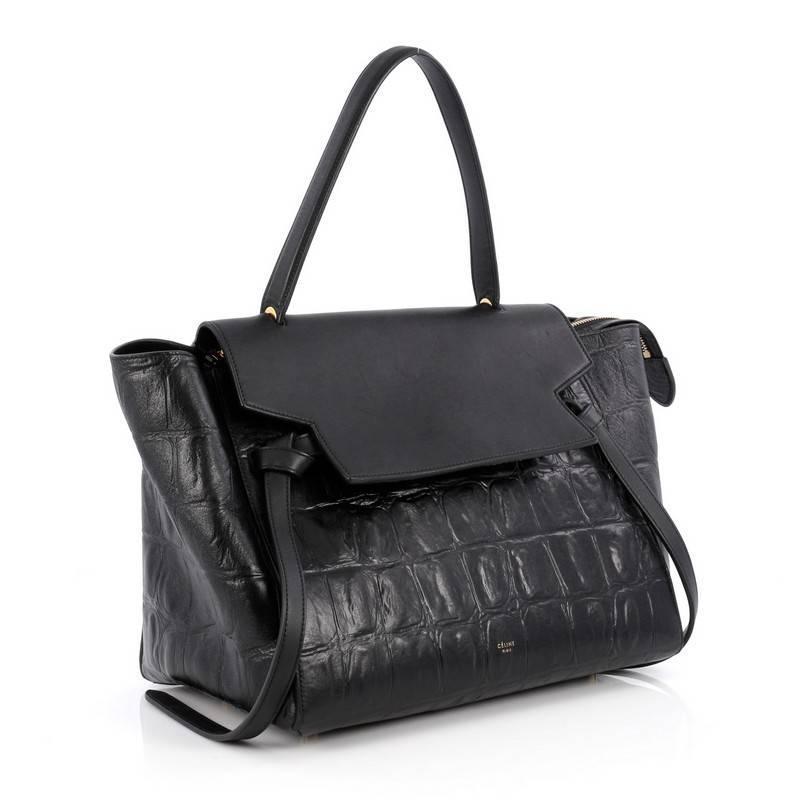 c388fc72b5 Celine Belt Bag Crocodile Embossed Leather Medium at 1stdibs