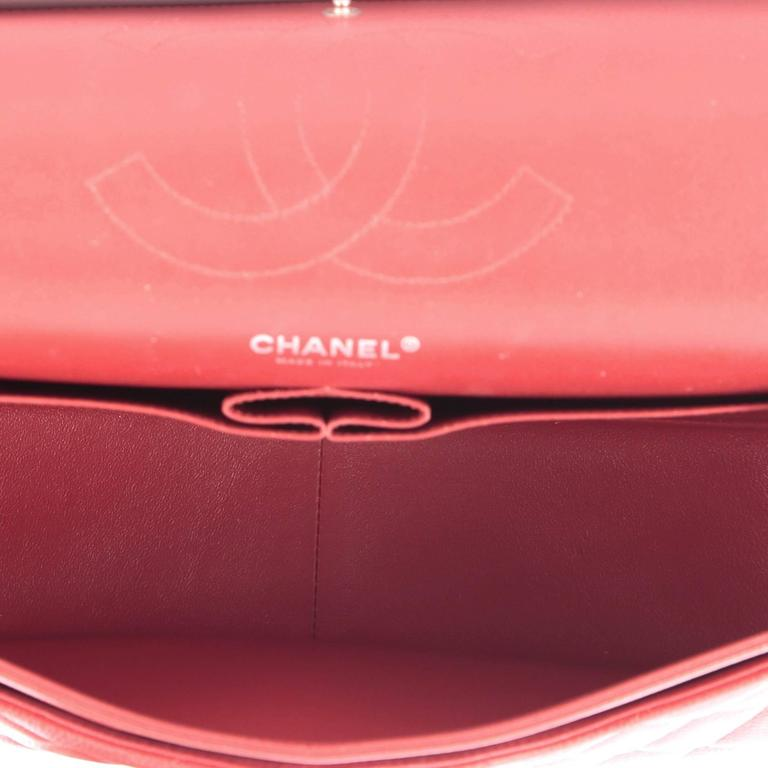 Chanel Classic Double Flap Bag Quilted Caviar Jumbo 6