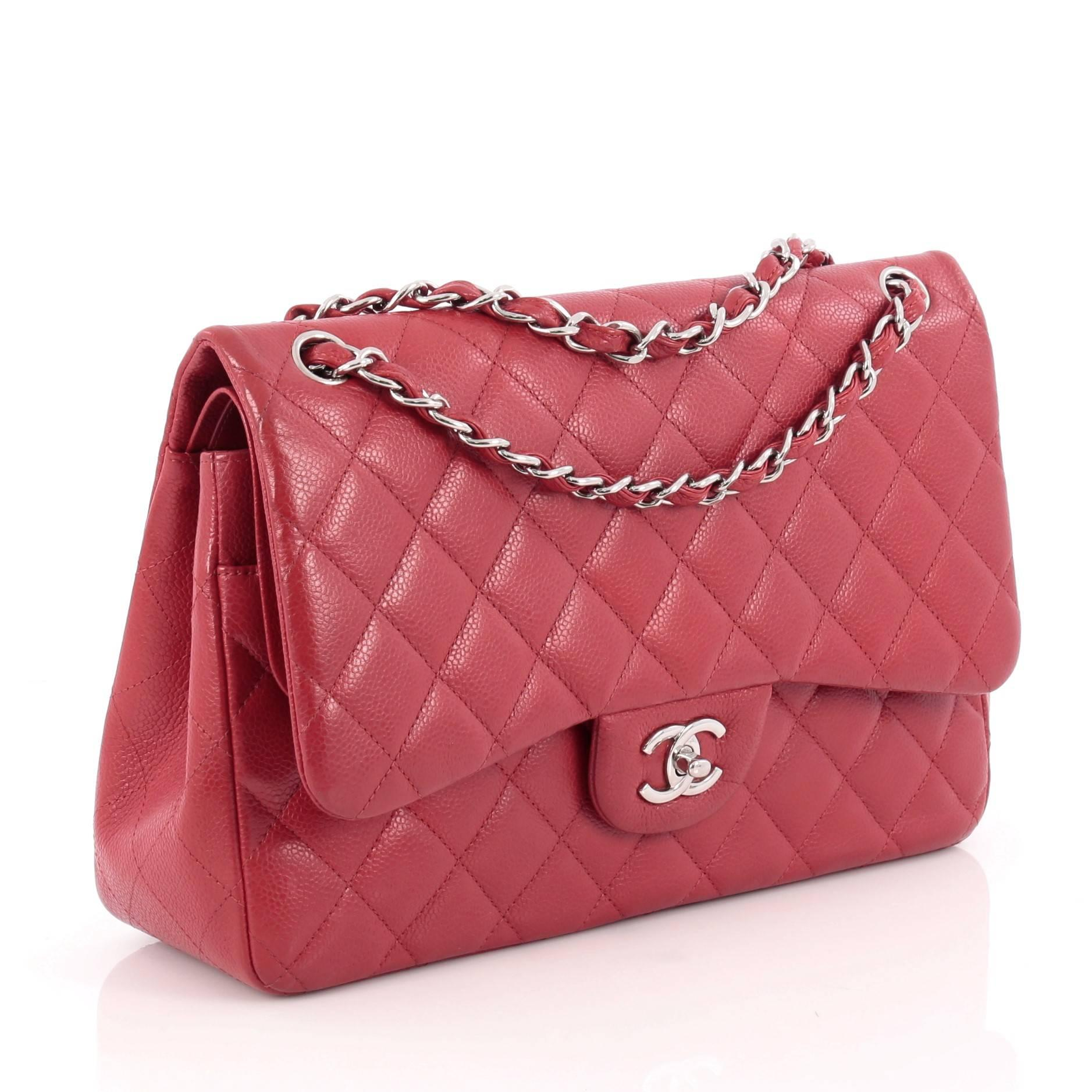 b16622f5e377 Chanel Classic Double Flap Bag Quilted Caviar Jumbo at 1stdibs
