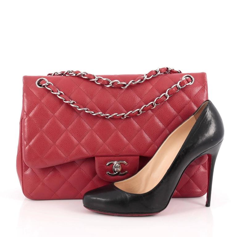 Chanel Classic Double Flap Bag Quilted Caviar Jumbo 2