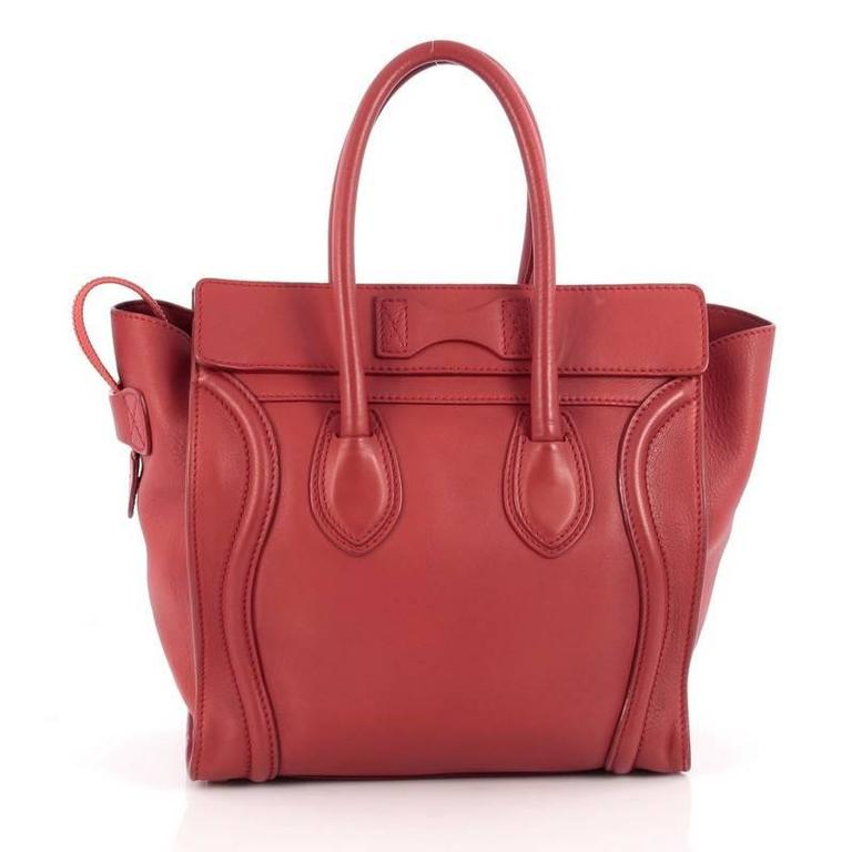 Celine Luggage Handbag Grainy Leather Micro 4