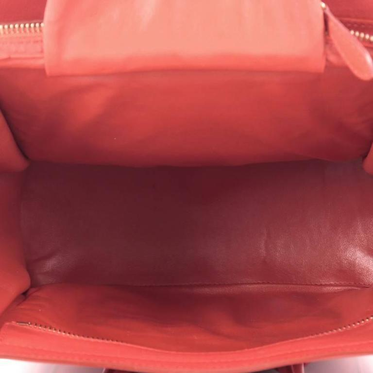 Celine Luggage Handbag Grainy Leather Micro 6