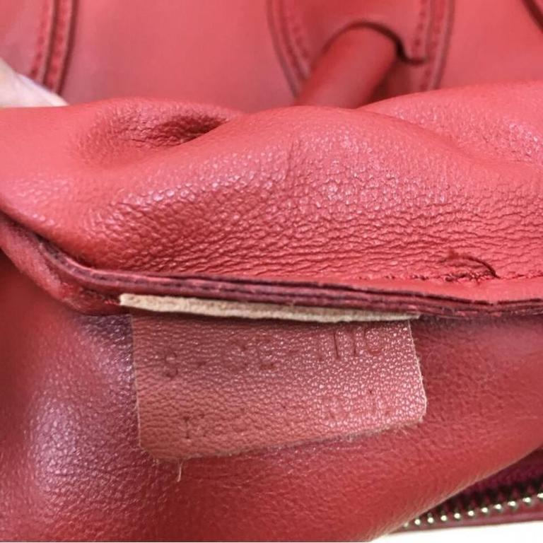 Celine Luggage Handbag Grainy Leather Micro 7