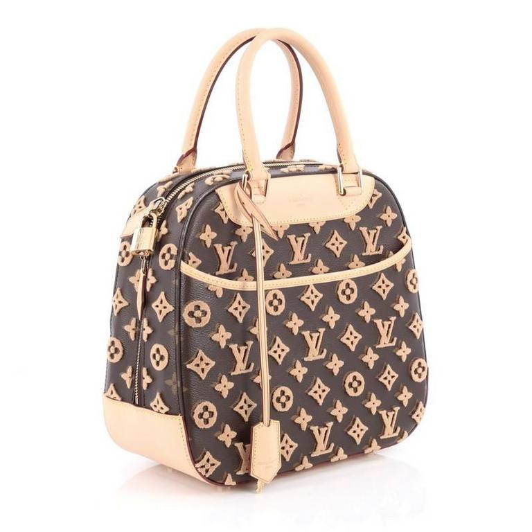 13ae88d83037 Black Louis Vuitton Deauville Cube Bag Limited Edition Monogram Canvas  Tuffetage For Sale