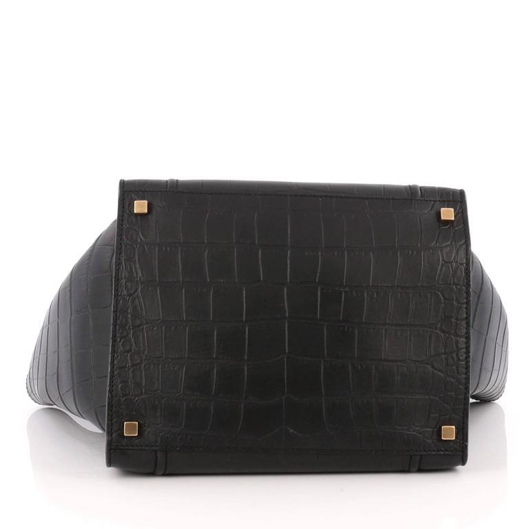 Celine Phantom Handbag Crocodile Embossed Leather Medium 5
