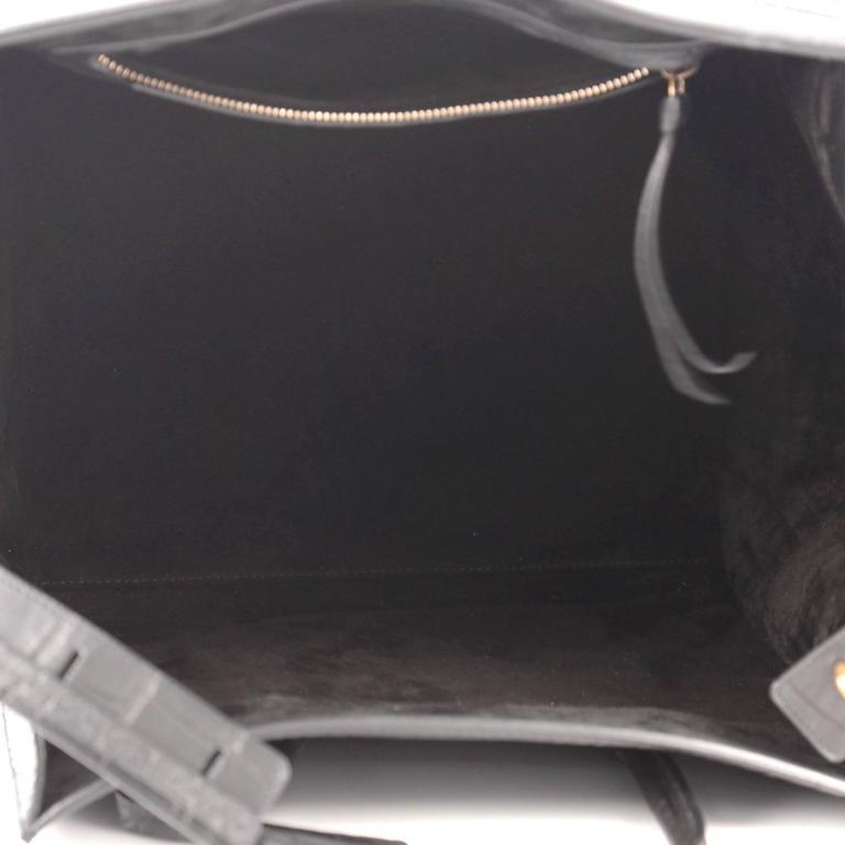Celine Phantom Handbag Crocodile Embossed Leather Medium 6