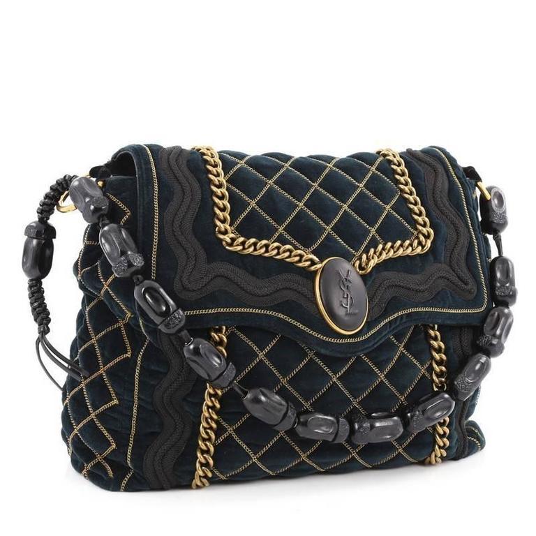 Black Saint Laurent Sac Luxembourg Bag Quilted Velvet Medium For Sale 25a0b79fe8