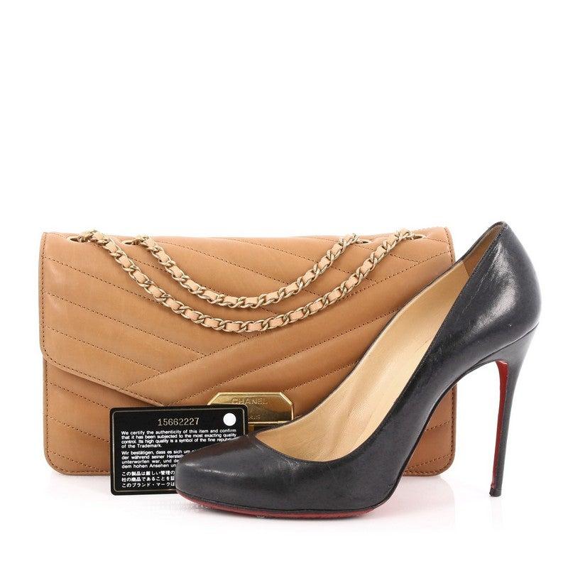 bcd46147a3c41f Chanel Gabrielle Flap Bag Chevron Leather Medium at 1stdibs